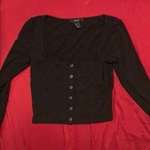 long sleeve boxed top